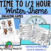 Time to Half Hour Winter Theme Print and Go! Common Core