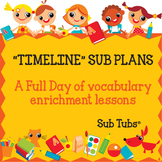 Vocabulary Sub Plans: Sub Tubs® Timeline Lesson Plan/Grade