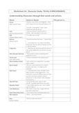 To Kill a Mockingbird Handouts & Worksheets