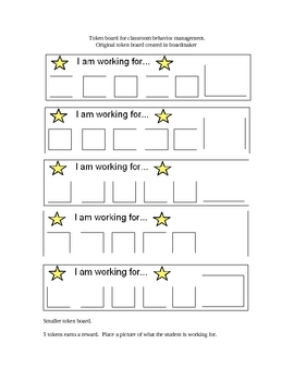 Token boards for classroom management.