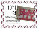 Top 10 Valentine's List Bulletin Board FREEBIE!