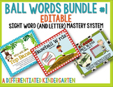 Ball Words Sight Word Mastery System Bundle #1-Editable