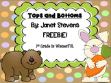 Tops and Bottoms Comparing Character Traits~ FREEBIES