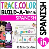 Trace, Color and Build- Spanish Words