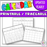 Traceable Calendars for 2015-2016