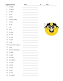 Traditional English to French Irregular Infinitives Quiz/Warm-up