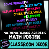 Traits of Mathematicians Classroom Poster