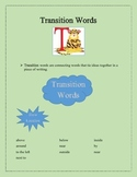 Transition Words for Descriptive Writing