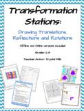 Translation, Reflection and Rotation Math Stations
