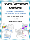 Translation, Reflection and Rotation Math Stations