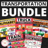 Transportation BUNDLE:  Transportation Math and Literacy A