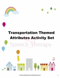 Transportation Themed Attributes Activity Set
