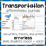 Transportation Themed Differentiated Journal Writing for S