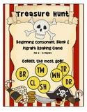Treasure Hunt Consonant Blend and Digraph Reading Game