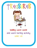 Treasures 1st Grade Spelling Cards and Word Sorts Units 1-6