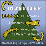 Triangle Bundle Pack-11+ Activites/Worksheet/Wall that Tea