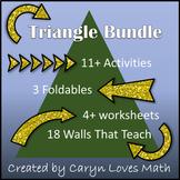 Triangle Bundle Pack-11+ Activites/Worksheet/Wall that Tea