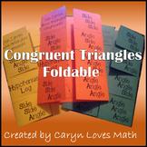 Triangle Congruence Postulate/Theorem Foldable~SSS~SAS~ASA
