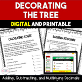 Trimming the Tree:  Decimal Multiplication Freebie - 5th a