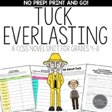 Tuck Everlasting CCSS Novel Unit for Middle School