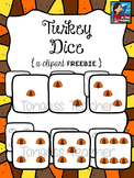 Turkey Dice Clipart Freebie