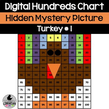 Turkey Hundreds Chart Hidden Picture Activity for Math and Thanksgiving