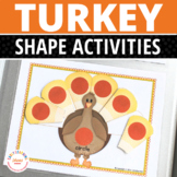 Turkey Shape Sort:  Pre-math Activity for Preschool and Pre-K