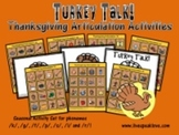 Turkey Talk! Thanksgiving Articulation Activities