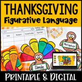 Figurative Language Activity {Thansgiving Themed: Build a Turkey}