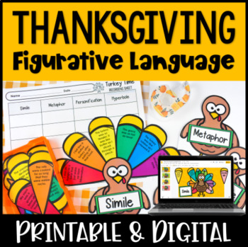Figurative Language Activity {Thansgiving Themed: Build a Turkey}