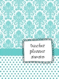 Turquoise Teacher Lesson Plan Book