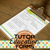 Tutor Forms: Educational (Editable)