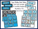 Two Calendar Sets - Polka Dot Theme