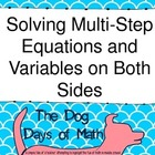 *Two Sets, Scavenger Hunt* Solve Multi-Step Equations with