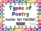Types of Poetry ~ Poster Set FREEBIE!