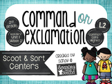 Types of Sentences: Command or Exclamation