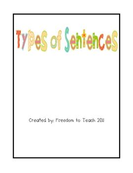 Types of Sentences * Grammar * Game * Assessment