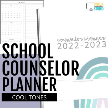 UPDATED: 2015-2016 Ultimate School Counselor Planner (Believe Theme)