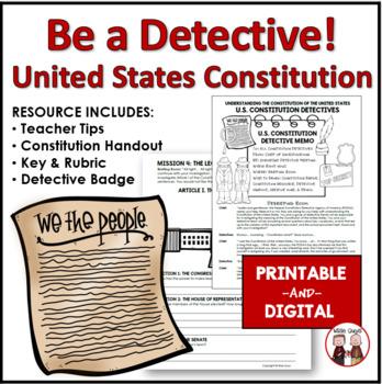 U.S. Constitution Detectives Activity Project Common Core Standards