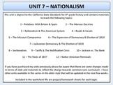 US History - Nationalism Unit
