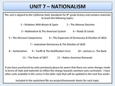 U.S. History - Nationalism - Complete Unit