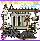 US Supreme Court Clip Art - color and black line