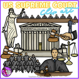 US Supreme Court Clip Art - color and black line