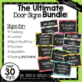 Ultimate Door Signs Bundle 2 – Rainbow Chalkboard Theme