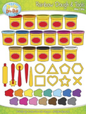 Ultimate Rainbow Clay Dough & Tools Clip Art Set  — Over 4