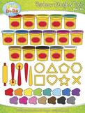 Ultimate Rainbow Clay Dough & Tools Clip Art Set  — Over 4
