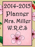 Ultimate Teacher Planner Cherry Blossom 2014-2015  - Commo
