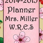 Ultimate Teacher Planner Cherry Blossom 2014-2015  - Commo