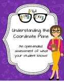 Understanding the Coordinate Plane: an open ended assessment