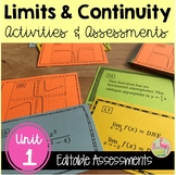 Calculus: Limits and Continuity (Unit 1) Review & Assessme